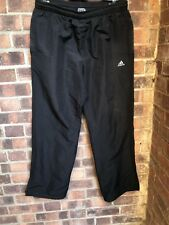 Black ADIDAS Climalite / Clima 365 Tracksuit Bottoms - Size Large Trousers