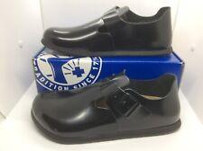 Birkenstock Womens London Black Leather Slip On Shoes Sz 11 EU42 ZB6-1283