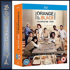 ORANGE IS THE NEW BLACK - COMPLETE SEASONS 1 2 3 & 4   **BRAND NEW BLU-RAY***