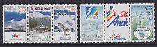 French Andorra - SG F468/72 - 2 strips - u/m - 1993 - Ski Resorts