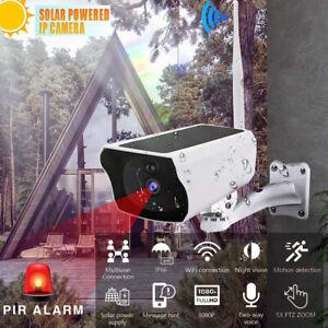Caméra Surveillance Extérieur Énergie solaire Wifi Nocturne Étanche Home Vision