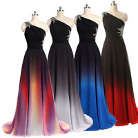 NEW Evening Formal Party Ball Gown Prom Bridesmaid Gradient Sexy Dress TSJY 6-24