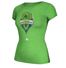 Seattle Sounders Adidas Women's Full Color Distressed Logo Tee NWT Sizes M or L