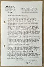 1977 - WALTER ZADEK (1900-92) Israeli photographer / Antiquar sign. Brief