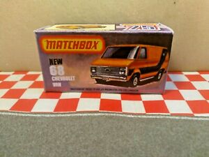 Matchbox Superfast Chevrolet Van No.68 EMPTY  Reproduction box ONLY NO CAR