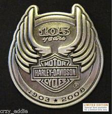HARLEY DAVIDSON 105TH ANNIVERSARY PIN GENUINE HD LTD