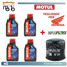TAGLIANDO FILTRO OLIO + 4LT MOTUL 5000 10W40 HONDA CBR 1000 RR FIREBLADE 2005