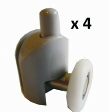 25 mm UNTERE ROLLE DUSCHKABINENROLLEN SET 4 STK