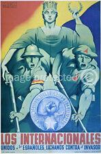 Los Internacionales Vintage Spanish Civil War 11x17 Poster