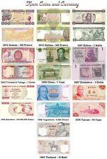 World Currency Set Yugoslavia,China,Guinea,Eritrea MINT