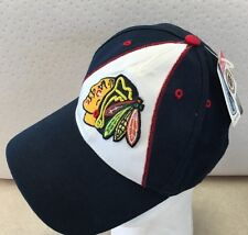 Vintage 90s Chicago Blackhawks Hat Cap NHL  Logo Hockey Twins  With Tags Sewn