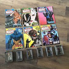 X-Men Eaglemoss The Classic Marvel Figurine Collection Bundle- x6 Figurines- GC