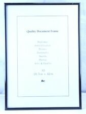6x Plain Easy Black A3 Document Certificate Photo Picture Glass Frame Bulk
