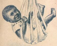 BLACK BABY being WEIGHED, on a BENGAL BLUING TRADE CARD, BOTTLE on BACK  TC1063