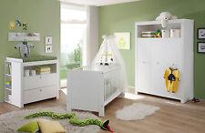 Babyzimmer komplett Set weiß Kinderzimmer Olivia 5 teilig Baby Zimmer Möbel Neu