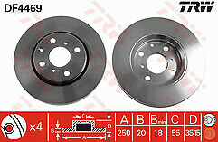 Fits Aygo 1.0 Petrol & 1.4 Diesel 05-14 Front Brake Discs 247mm Vented