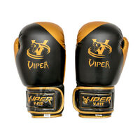 Viper Rex Leather Gel Boxing Gloves  Muay Thai MMA Training Sparring Gloves