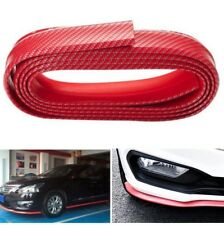 Universal M3 Style Urethane 3D Carbon Dipping Print Bumper Red TLS J