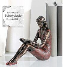 """Casablanca Skulptur Buchstütze """"Mädchen"""" sitzend Dekofigur Tischdekoration 52332"""