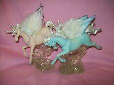 Lot of2Pair Unicorn Pegasus Winged Stone Horse statue Figurine Bradford Exchange
