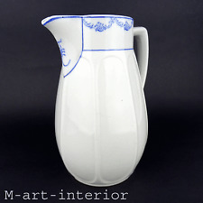 Antike Kakaokanne Krug Porzellan Milchkrug Indigo Blau Dekor cocoa jug ca. 1900