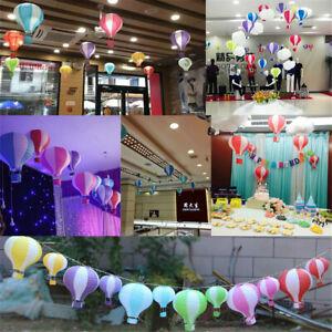Kids Rainbow Hot Air Balloon Paper Lantern Lampshade Ceiling Light Shade Hanging