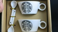 J84:New Starbucks Ceramic Tea Cup with Ceramic TeaSpoon