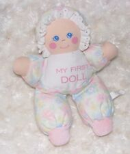 FAN FAIR MY FIRST DOLL SOFT CLOTH BABY GIRL RATTLE STUFFED PLUSH TOY FLORAL LACE