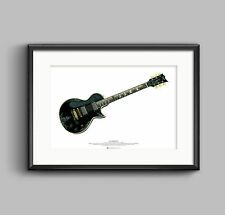 James Hetfield's JH-3 guitar ART POSTER A2 size
