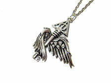 HARRY POTTER WINGED KEY FLYING KEY DEATHLY HALLOWS PENDANT NECKLACE CHAMBERS