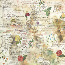Rice Paper -Flowers & Poems- for Decoupage Scrapbooking Sheet