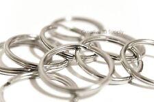 """Wholesale Lot 500 Key Rings Split Rings Keychain 28mm 1-1/8"""" D Heavy Duty Rings"""