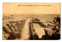 CPA 34 Herault Sète Station Balnéaire Le Port et la Jetée Le stand