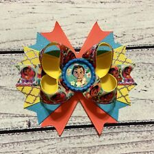 """Handmade 5"""" Multi Color Baby Moana Stacked Boutique Hair Bow"""