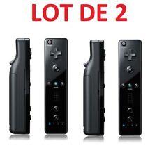 2 X Télécommande Wiimote pour Nintendo Wii et Wii U - Noir