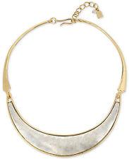 NWT Robert Lee Morris Soho Two-Tone Sculptured Collar Necklace $68