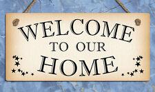 Segno Di Metallo da Appendere Benvenuto nella nostra home targhe insegne Home Gifts