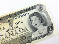 1973 Canada One 1 Dollar Uncirculated ALH Lawson Bouey Canadian Banknote T279