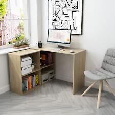Eckschreibtisch Winkelkombination Schreibtisch Arbeitstisch Büro Computer Natur