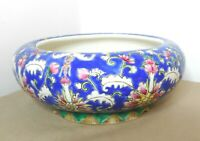 OLD CHINESE HAND PAINTED ENAMEL DECORATED PORCELAIN FOOTED BOWL