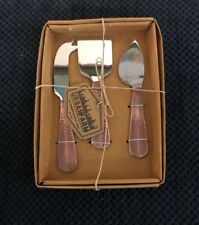 Thirstystone Cooper 3- Pc Cheese Serving Set New With Tags