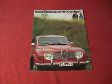 1969 Saab Sales Brochure Booklet Catalog Old Original