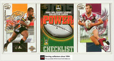 2005 Select NRL Power Series Trading Cards Full Base Set (181)