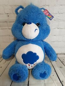 "Care Bears Grumpy Bear 2019 Plush 20"" Large Stuffed Animal Nostalgia Blue Clouds"