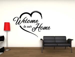 Adesivo Home welcome to our home murale stickers wall alta qualità prespaziato