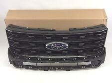 2016-2018 Ford Explorer Sport Absolute Black Front Radiator Grille New OEM