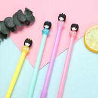 Creative Kawaii Kimono Cute Girl Doll Gel Pen 0.5mm Black Ink Stationery K