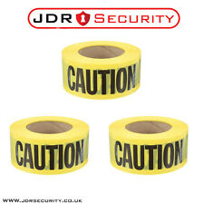 3 x 50M BLACK AND YELLOW PVC SELF ADHESIVE HAZARD SAFETY CAUTION WARNING TAPE