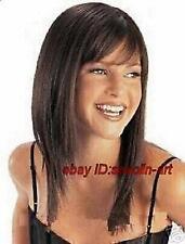 Brun foncé longue perruque de cheveux en bonne santé, cosplay Costume perruques