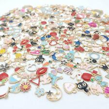 Wholesale 20pcs Enamel Mixed Random Color Alloy Pendant Charms Jewelry DIY Craft